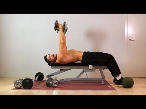 Rolling Dumbbell Extension | Home Arm Workout for Men