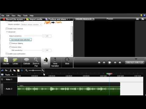 Camtasia Workshop Part 4: Voice Narration & Audio Editing