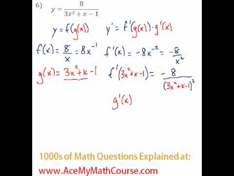 Derivatives - Chain Rule Question #6