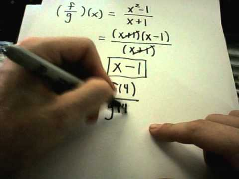 Multiplying and Dividing Functions - Function Notation