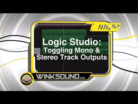 Logic Studio: Toggling Mono and Stereo Track Outputs