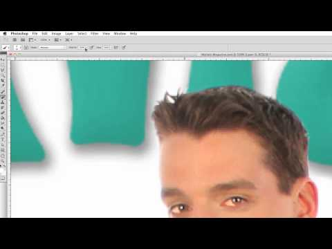 How to Make a Magazine Cover in Photoshop - Enhance Eyes