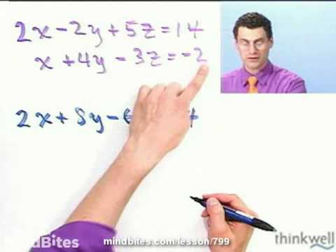 College Algebra: Solving Two Equation Systems