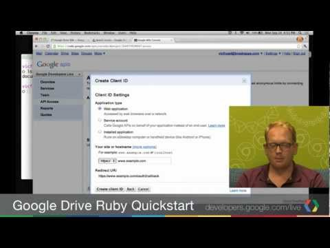 Google Drive SDK: Writing your first Drive app in Ruby