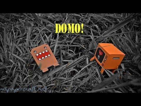 Popular Craft Projects - 006: Paper DOMO Box Figure (Finger Puppet) - TCGames [HD]