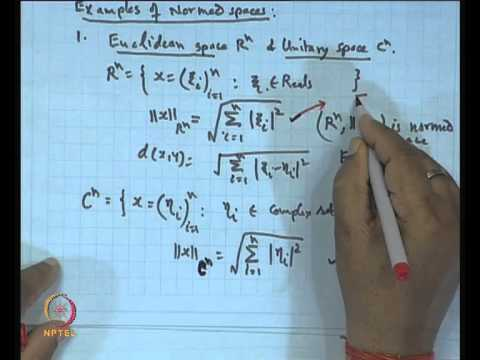 Mod-01 Lec-09 Normed Spaces with Examples