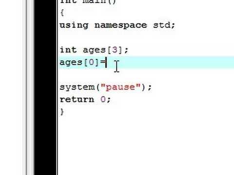 C++ Tutorial - 10 - Beginning Arrays