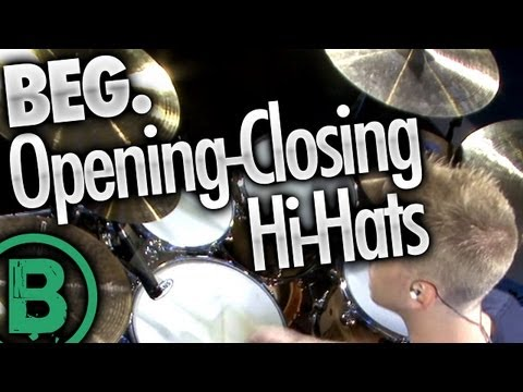 Opening-Closing Hi-Hats - Beginner Drum Lessons