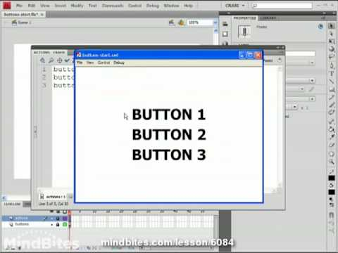 ActionScript 3.0 Intro 16: Multiple Buttons