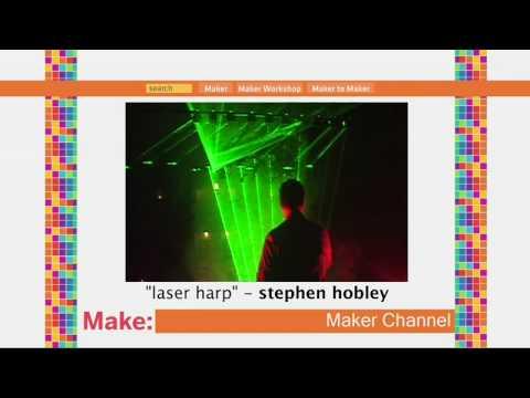 Laser Harp on MAKE: television