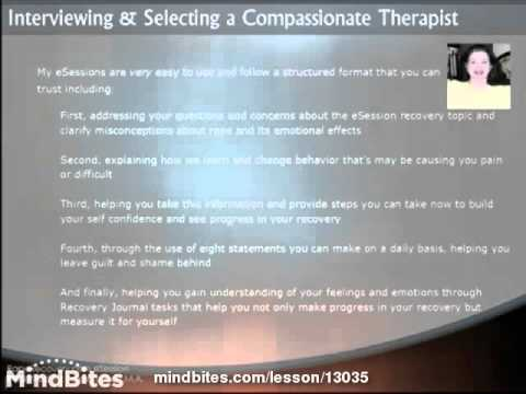Interviewing & Selecting a Compassionate Therapist