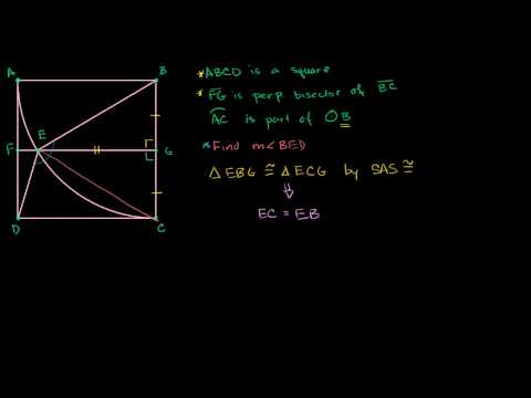 Problem involving angle derived from square and circle
