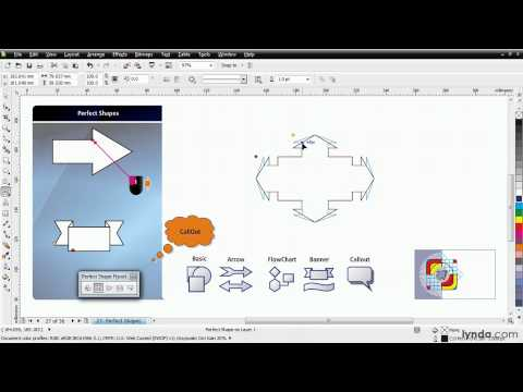 CorelDRAW tutorial: Working with the perfect shapes | lynda.com