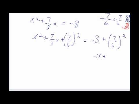 Completing the square part 2