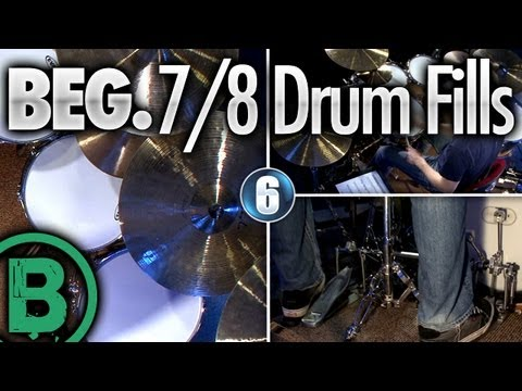 7/8 Drum Fills - Beginner Drum Lessons