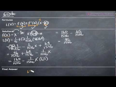 Linear Approximation in One Variable Ex 6