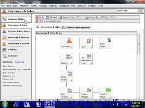 Peachtree Tutorial Creating a Fixed Assets Account Sage Training Lesson 18.4