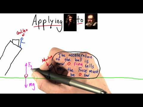 What Balances Gravity - Intro to Physics - What causes motion - Udacity