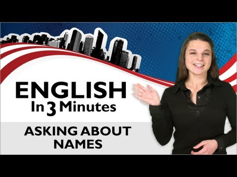 Learn English - Asking About Names
