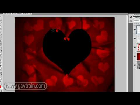 Valentines card from scratch - Photoshop Week 37