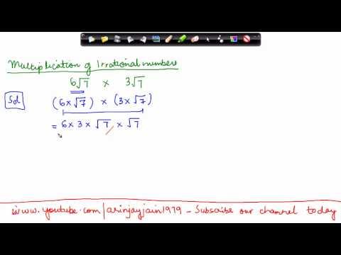 1424.CBSE Math Class IX, ICSE Class 9 -   Irrational numbers Multiplication