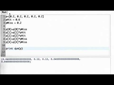 Sum Of Probabilities Solution - CS373 Unit 1 - Udacity