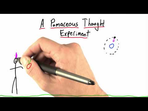 A Pomaceous Thought Experiment - Intro to Physics - What causes motion - Udacity