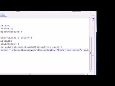 Java Programming Tutorial - 85 - JColorChooser
