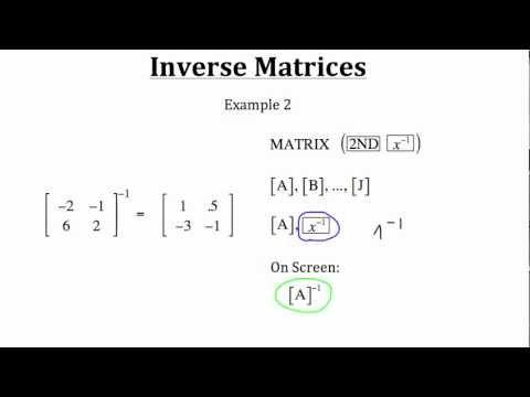 Inverse Matrices PT 1