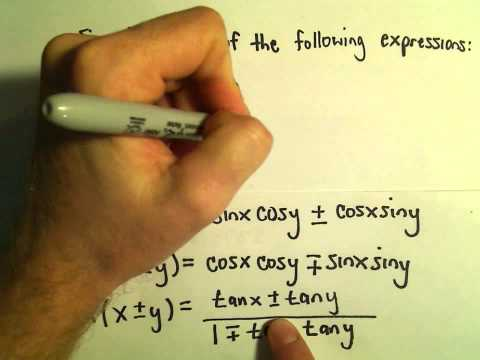 Word Problems Involving Multiple Angle Identities, Example 3