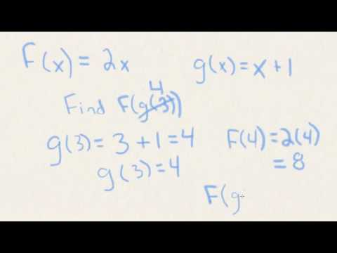 How to find Composite Functions f of g of x (Extended Version)