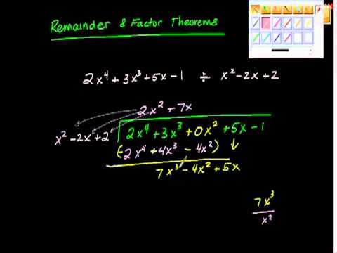 Remainder and Factor Theorem One algebra