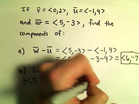 Vector Addition and Scalar Multiplication, Example 1