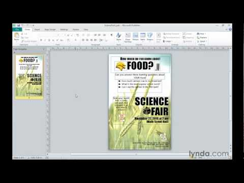 Microsoft Publisher: Creating web publications | lynda.com tutorial