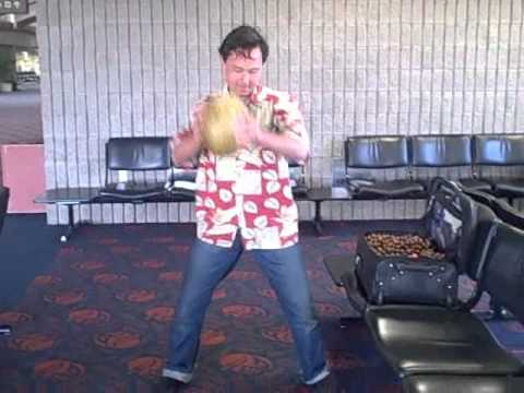 How to Open a Coconut with No Tools at the Airport