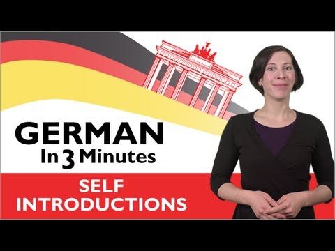 Learn German - How to Introduce Yourself in German