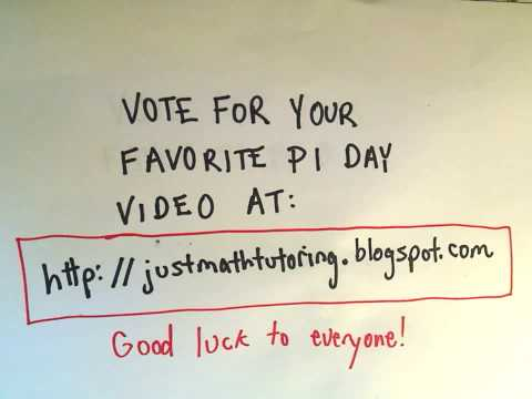 Vote for Your Favorite Pi Day Video!