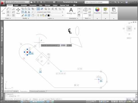 AutoCAD 2011 Parametric Constraints