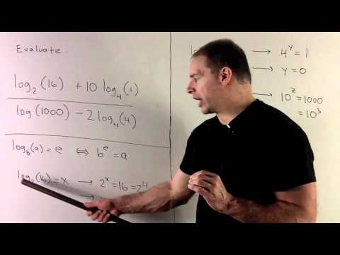 Evaluating Logarithms 1 - Converting to Exponential Form