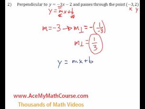 Perpendicular Lines - Question #2