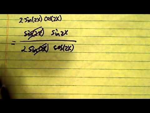Simplify Trig Expression: sin^2(2x)/2sin2xcos2x
