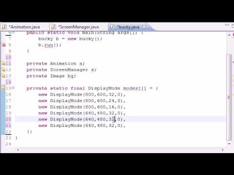 Java Game Development - 20 -  Creating Display Modes List