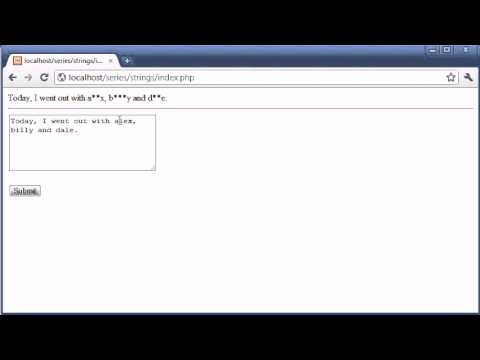 Beginner PHP Tutorial - 53 - Word Censoring Part 2