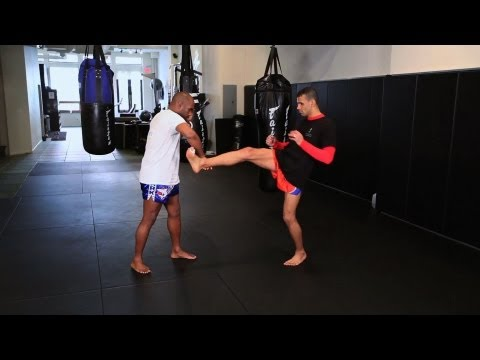 How to Defend Against the Push Kick | Muay Thai Kickboxing | MMA