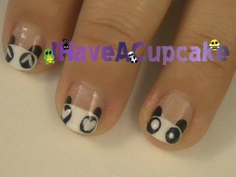 Panda Emote Nail Art