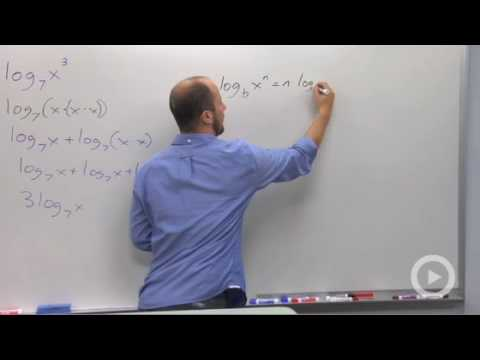 Algebra 2 - Power Rule of Logarithms