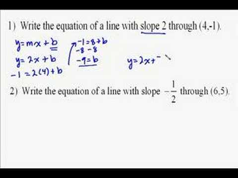 A15.2 Writing Linear Equations