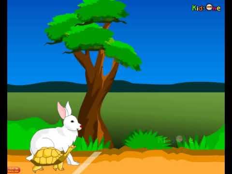 Tortoise and Rabit - Running Race - Telugu Animated Stories