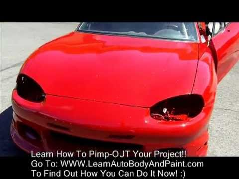 How To Paint & Install Body Kit - Custom Painting a Car From Home Garage!