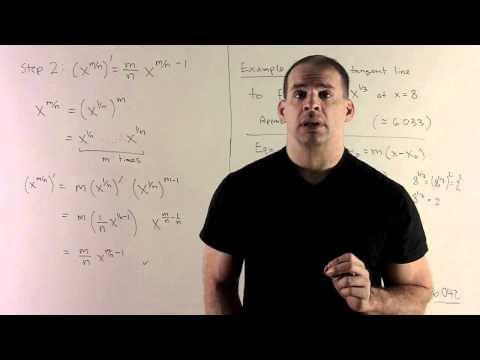 Power Rule for Rational Exponents